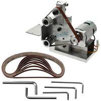 HW Small DIY Polishing Machine Grinding Bench Electric Belt Sander Grinder Sharpener Abrasive Tools