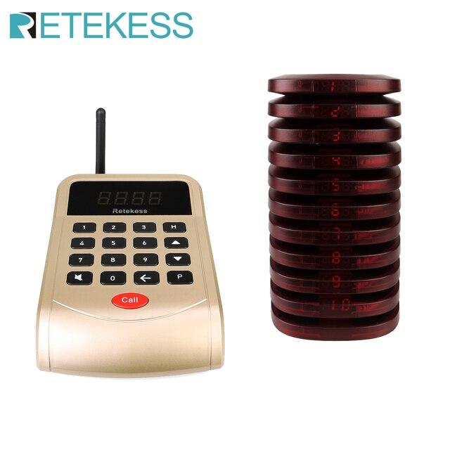 Système d'appel de serveur de Restaurant de téléavertisseur de Retekess T118 avec 10 récepteurs de téléavertisseur pour le système de radiomessagerie de Restaurant de clinique d'église 1