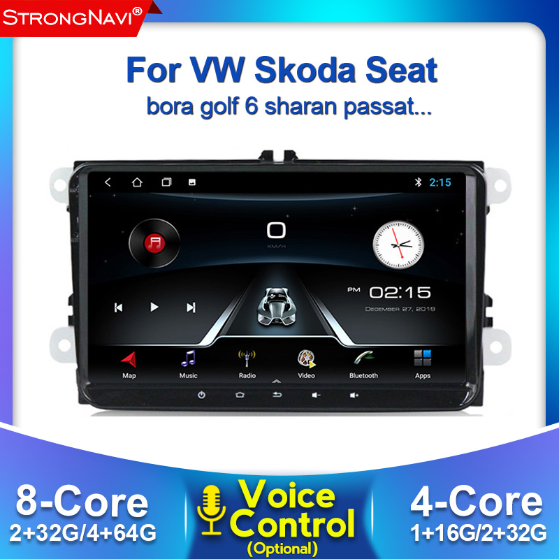 Voice control <font><b>Android</b></font> 2din Car DVD radio for VW POLO <font><b>GOLF</b></font> 5 <font><b>6</b></font> POLO PASSAT B6 CC JETTA TIGUAN TOURAN EOS SHARAN SCIROCCO CADDY image