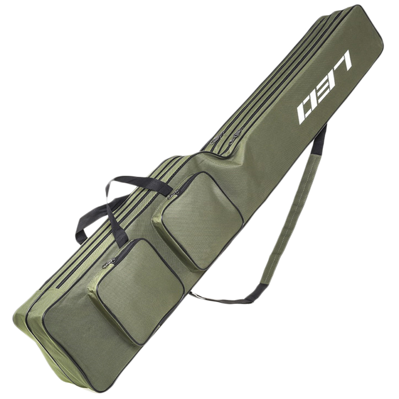 Leo Fishing Bags 130Cm Foldable Multi-Purpose Fishing Bags Fishing Rod Bags Zipped Case Fishing Tackle Bags Pouch Holder