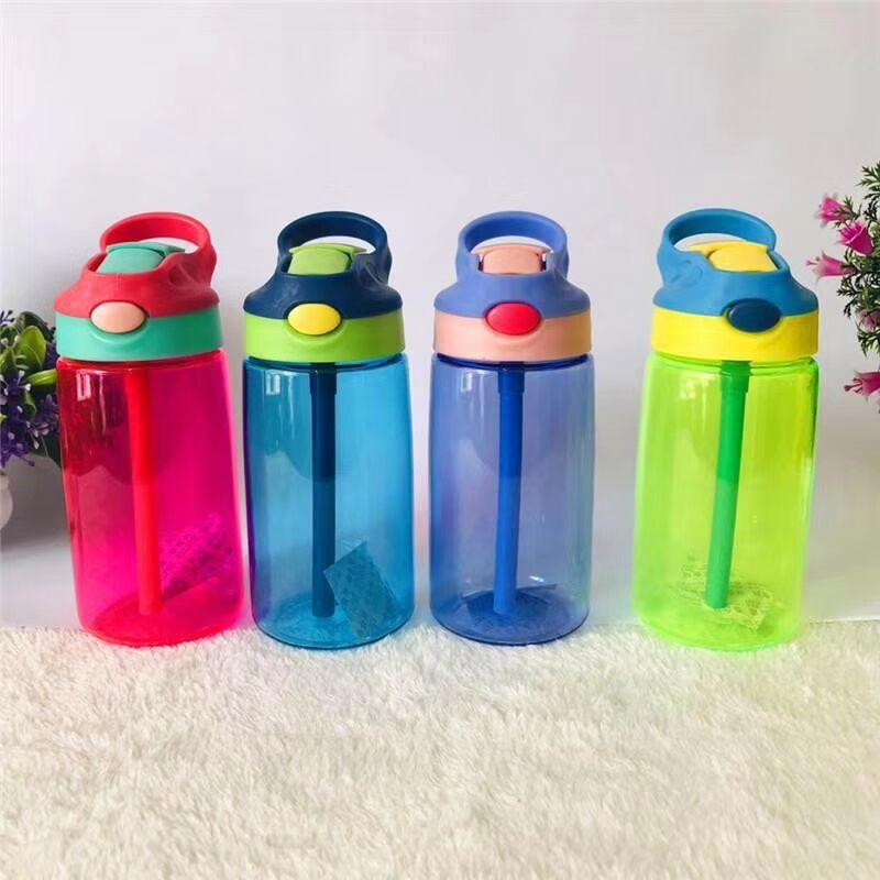 Spor ve Eğlence'ten Spor Şişeleri'de Sıcak satış xiao jing zi çocuk plastik damlatmaz bardak paramparça dayanıklı cam yaz öğrencileri açık spor su ısıtıcısı title=