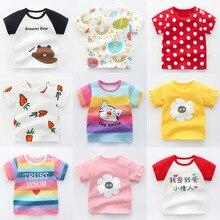 Children Shirt Kids Tee Tiktok-Style Girls Cotton Cheap Clothing Animal Summer 1-4-Years