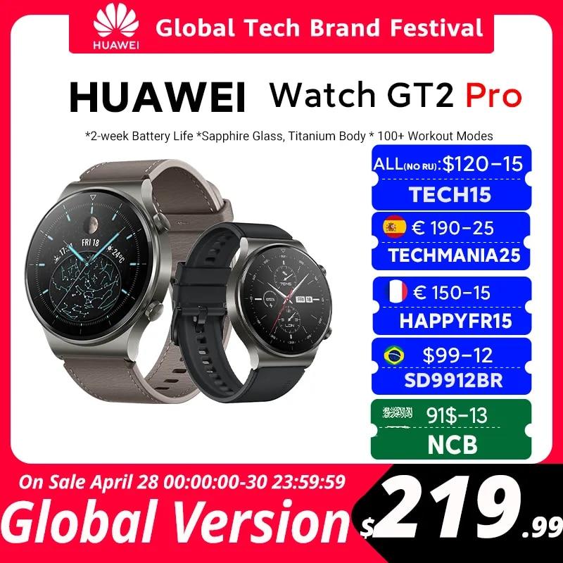 CODE: TECH15  120$-15 off CODE: OBNIZKA or  HWBANDNEW  40-5$ off W magazynie globalna wersja HUAWEI zegarek GT 2 pro SmartWatch 14 dni żywotność baterii GPS bezprzewodowe ładowanie Kirin A1 GT2 Pro