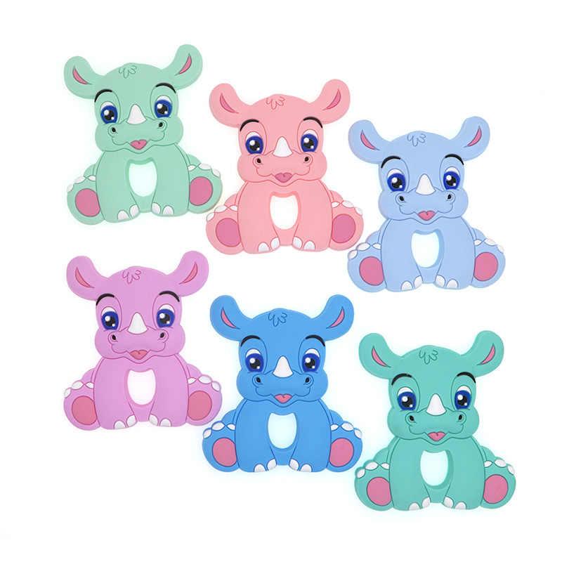 Kovict BPA, 1 unidad gratis, rinoceronte, mordedor de silicona para bebés, roedores, juguetes para dentición para bebés, masticables, productos para bebés, regalo de enfermería