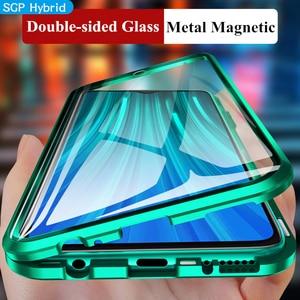 Image 5 - Novo para redmi note 8 pro vidro temperado de dupla face proteger capa traseira caso para xiaomi mi nota 8 note8 pro 8t magnética caso