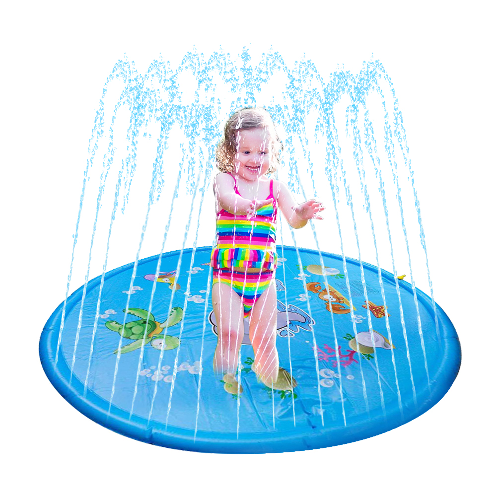100cm Outdoor Lawn Beach Sea Animal Inflatable Water Spray Kids Sprinkler Play Pad Mat Water Games Beach Mat Cushion Toys Gifts