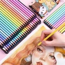 Lápis de cor quadrada marcos 12/24 cores, lápis coloridos para estudantes, escola, presentes para crianças
