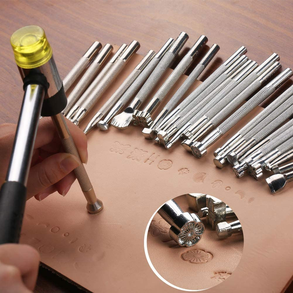 20x инструмент для печати на коже резьба из сплава ручное изготовление
