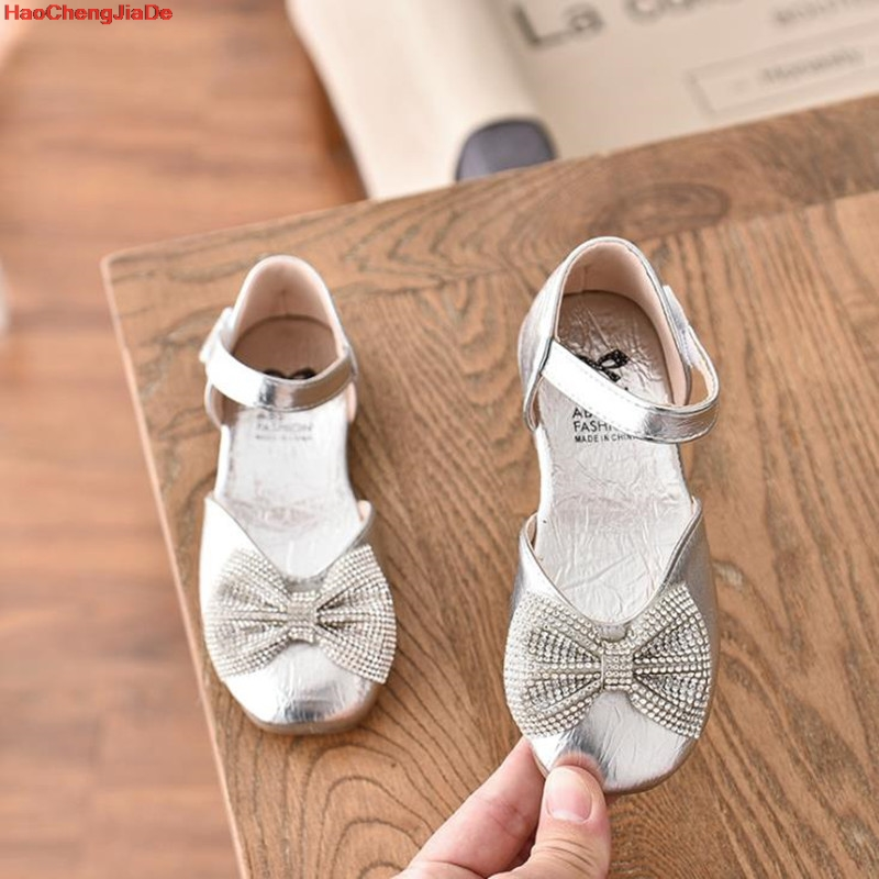 Girls Sandals Kids Shoes Hot Sale Bow Elsa Princess Party Shoes Children Diamond Sandals For Baby Girl Summer Shoes