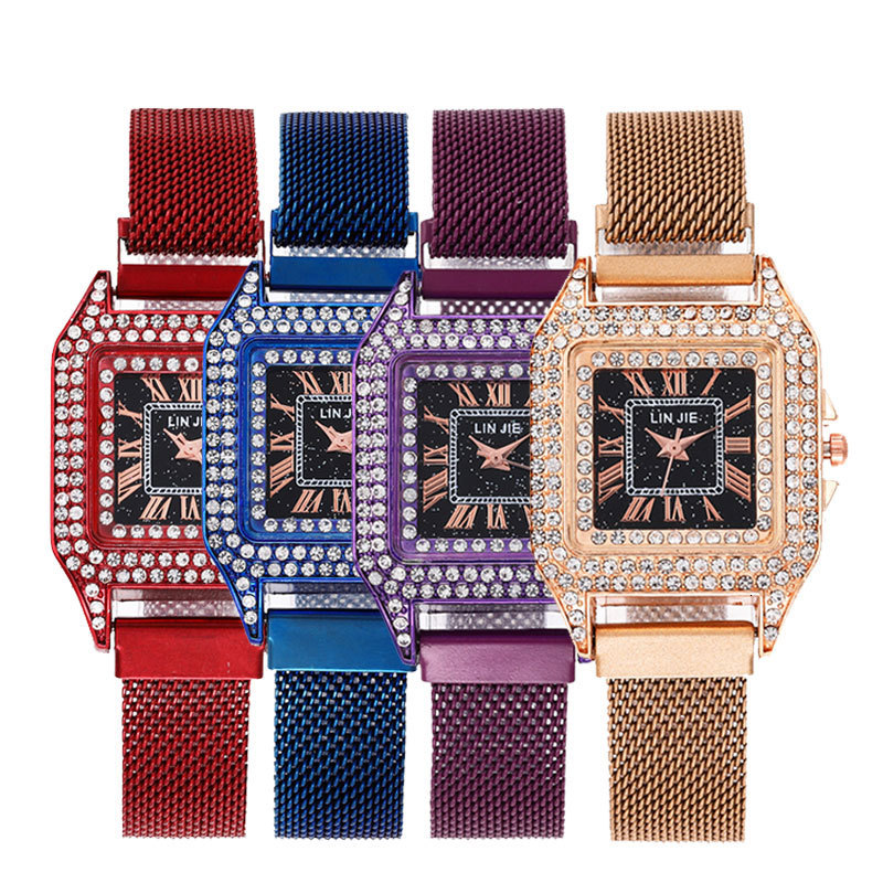 Women Rhinestone Watch Luxury Leather Brand Women's Watches Hot Fashion Women Dress Watch Relogio Feminino Free Shipping Gifts