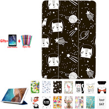 Case cover For Huawei MediaPad T3 7 3G BG2-U01 Flip Cover PU leather print folding stand protecive case Coque Funda Capa painted(China)