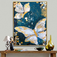 KOWELL 100% Handpainted Modern Butterfly Oil Painting On Canvas Art Gift Home Decor Living Room Wall Art Frameless Picture