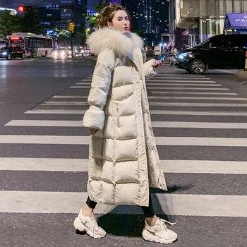 Oversize Winter Puffer Jacket For Women Outerwear Womens Parkas Fur Hooded Cotton Padded Female Coat Warm Outwear Hood Snow Wear цена 2017
