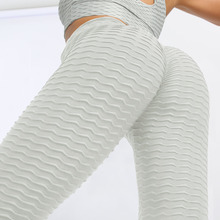 Women Seamless Leggings  Black White Casual Push Up Purple Bubble Legg