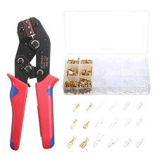 600pcs Cable Plugs Female Terminal Connector + Crimping Pliers Flat Socket Set Crimper Cable Lug Plier Hand Tools Set