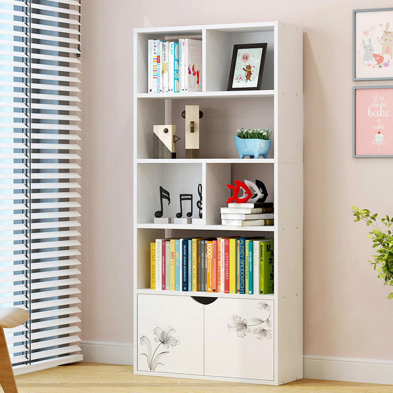 Combination Bookshelf Bookcase Simplicity Creative Cool Storage Shelf Floor Simple Display Rack Special Offer Bookshelf With Doo