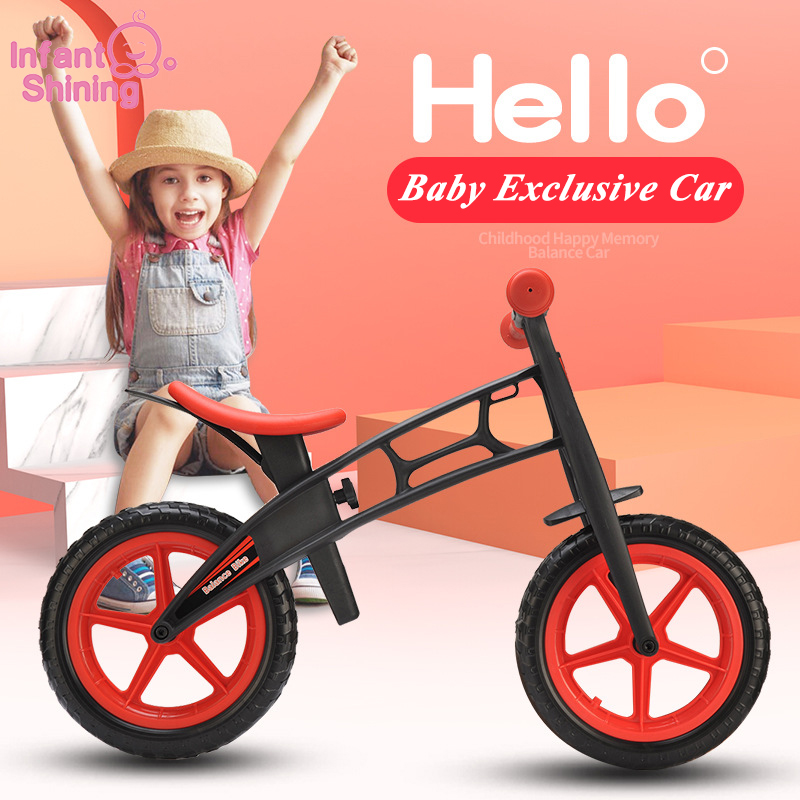 Infant Shining Two Wheels Balance Bike 4-6 Years Old Children Walker 12 Inch Riding Bicycle Height Adjustable Kids Scooter