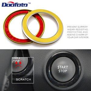 Image 5 - Araba Styling başlangıç motoru düğme kapağı halka durumda çıkartmalar Renault Koleos Kadjar Megane 2 Sandero oto iç aksesuarları