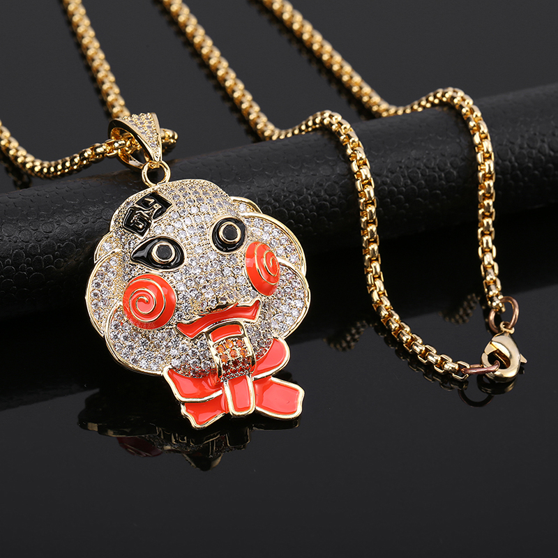 Film And Television Peripheral Characters Hip Hop Style Necklace Pendant Men And Women Friends Gift Hip Hop Fashion Accessories
