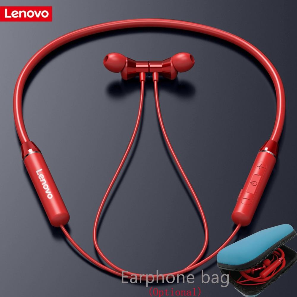 Original Lenovo HE05 Bluetooth 5.0 Wireless Headset Magnetic Neckband Sports Running Earphone Earplug Waterproof Noise Canceling Bluetooth Earphones & Headphones    - AliExpress
