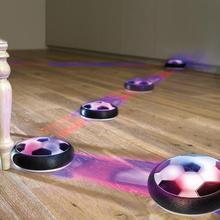 Levitar la suspensión de la pelota de fútbol cojín de aire de espuma flotante de fútbol con luz LED de música de deslizamiento juguetes de fútbol regalos para niños