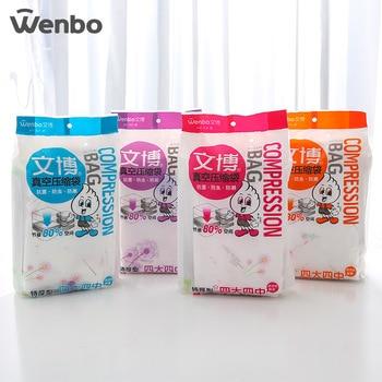 WENBO Ŏ�い真空圧縮袋毛布服ケース 4 Ť� 4 · Â�ン · 1 Xi Â�ン 1 Ã�ンドポンプ毛布収納袋