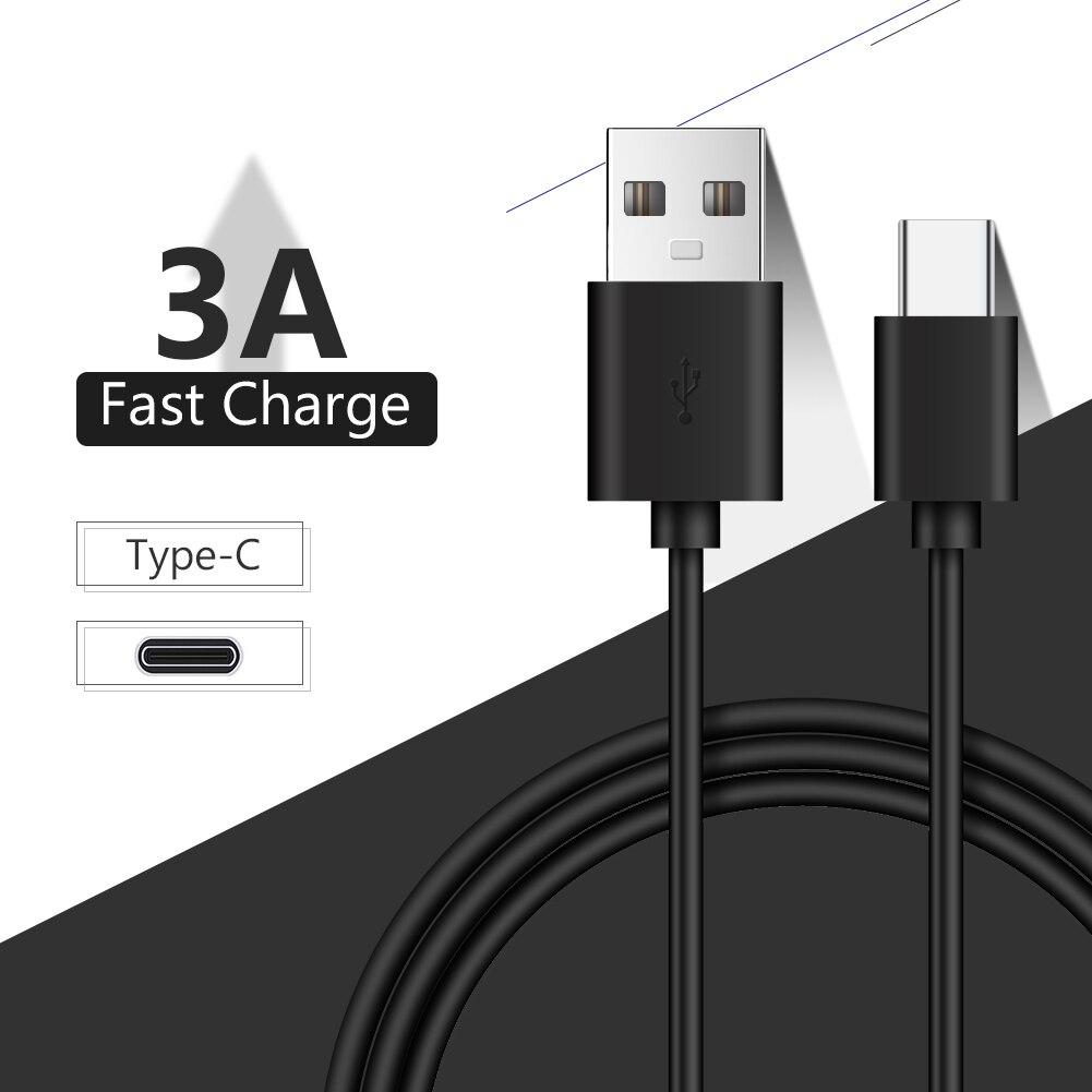 Кабель зарядный с разъемом USB Type-C и поддержкой быстрой зарядки, 25/100/150/200/300 см