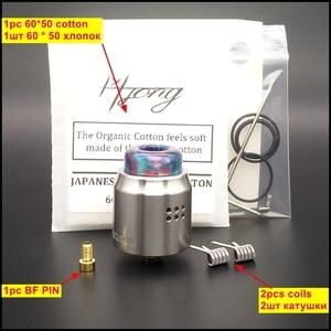 Image 4 - Hongxingjia vaporisateur X Mike Vape RDA métal Recurve double RDA Singal bobine coton Squonk boîte Mod électronique Cigarette atomiseur