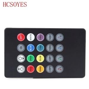 Image 2 - 20 키 음악 IR 컨트롤러 블랙 사운드 센서 RGB LED 스트립에 대 한 원격 RGB 5050 3528 smd LED 스트립에 대 한 12V 24V