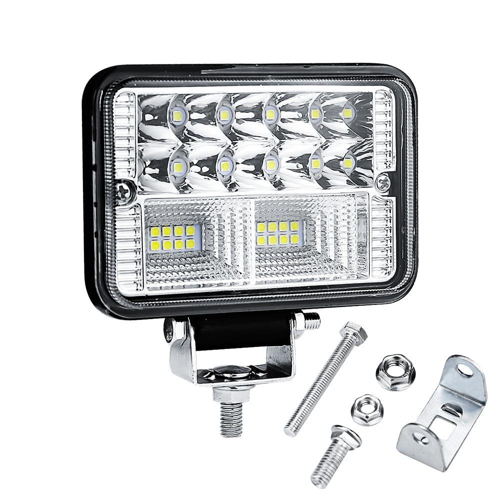 4 дюйма, высокая яркость, светодиодный светильник для грузовика, прицепа, рабочий светильник, точечный светильник, 26 светодиодный, 12 В, 24 В, ав...