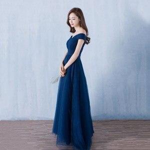 Image 3 - Beauty Emily robe longue de soirée Maxi élégante, dos nu, bleu Royal, robe de fête, de standing, 2020, à lacets