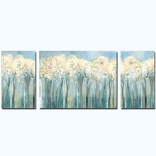 Modern Hand Painted Abstract Three Pieces Forest Wall Picture Oil Painting Art Canvas Living Room Home Decoration Drop Shipping