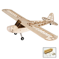 DIY Flying Model S0801 Balsa Wood RC Airplane 1.2M Piper Cub J 3 Remote Control Aircraft KIT Version DIY Toys For Kids