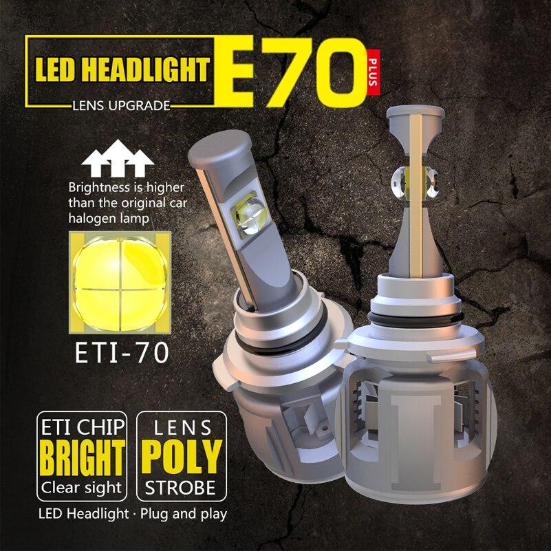 9005 HB3 H10 LED 120W 15000LM Headlight Kit Bulbs Conversion Cree White 6000K 2x
