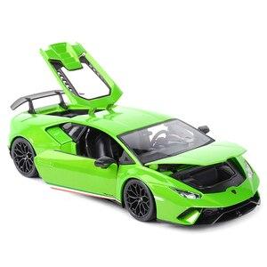 Image 2 - Maisto 1:18 הוריקן Performmante LP610 4 ירוק ספורט רכב סטטי סימולציה למות יצוק כלי רכב אספנות דגם רכב צעצועים