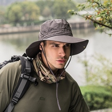 Outdoor Hats Wide Brim Bucket Hat UV Protection Boonie Breathable Hats for Fishi