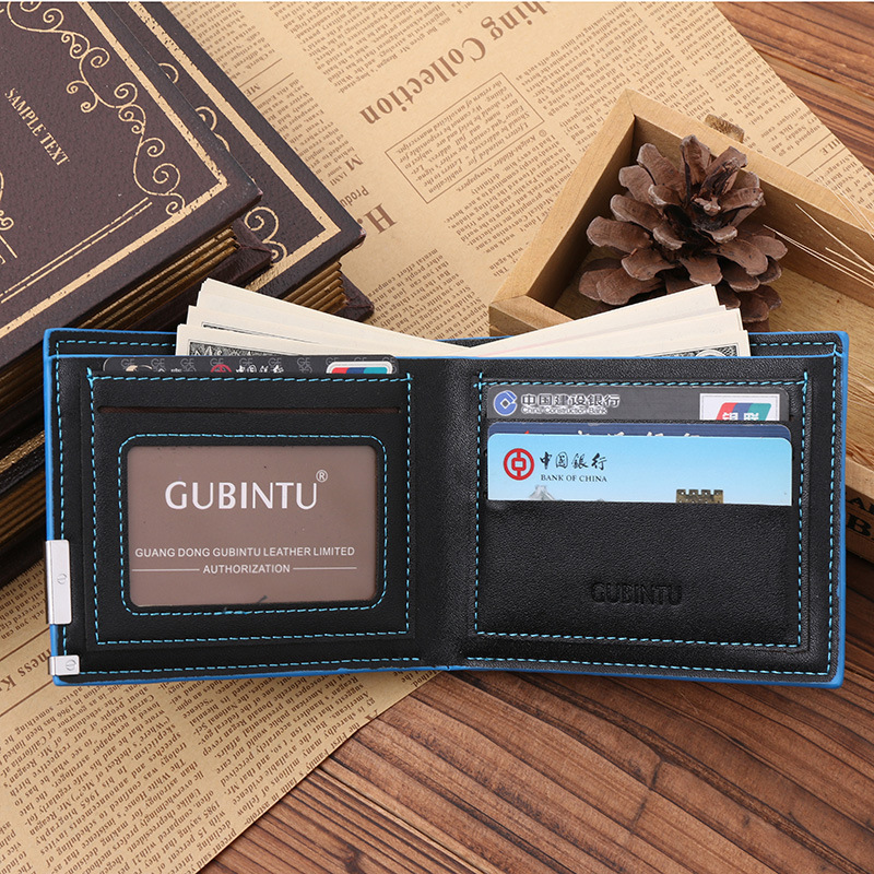 Business Small Men Wallet Leather Card Holder Men Wallets Brand Thin Solid Color Short Coin Pocket Male Purse Carteira Masculina
