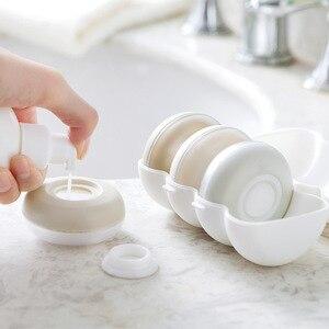 Image 1 - 4 pièces/boîte presse portable rechargeable bouteille voyage joint shampooing douche gel boîte de rangement cosmétique bouteille vide