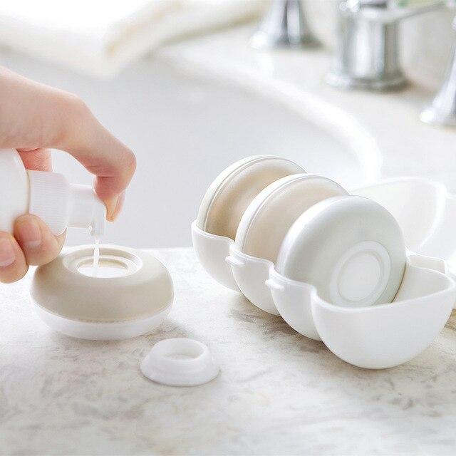 4 pièces/boîte presse portable rechargeable bouteille voyage joint shampooing douche gel boîte de rangement cosmétique bouteille vide