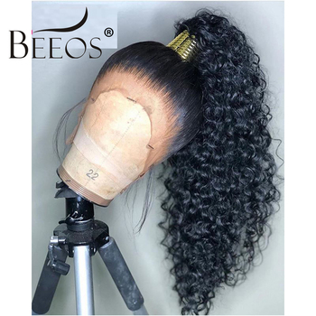 BEEOS HD Transparent Lace Wigs Preplucked 360 Lace Frontal Wig Invisible Lace Front Wigs Straight Human Hair Wigs Remy Ponytail