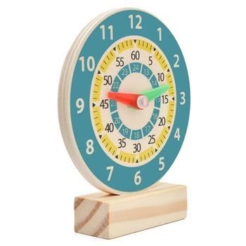 Montessori wczesna edukacja zegar dziecięcy pomoc dydaktyczna drewniany zegar uczeń matematyka podręcznik pomoc dydaktyczna s zegar zabawkowy Model tanie i dobre opinie CN (pochodzenie) 4-6y 7-12y 25-36m none Certyfikat europejski (CE) 638096 Zwierzęta i Natura