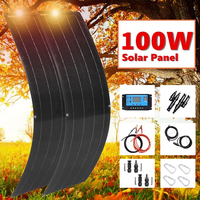 Panel solar flexible 50w 100w solar panel 16v 12V battery charger monocrystalline silicon for home car RV boat camping hiking