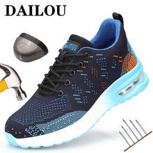 Safety Shoes Men Women Work Sneakers Steel Toe Shoes 2021 New Work & Safety Boots Indestructible Unisex Work Shoes Footwear