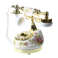 smart landline phone Antique Designer Phone nostalgia telescope vintage telephone ceramic MS 9100 Floral Corded Phone