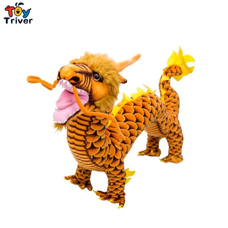 80cm Reallife chinois Dragon en peluche Triver animaux en peluche poupée enfants enfants jouets chanceux cadeau décor à la maison artisanat livraison directe