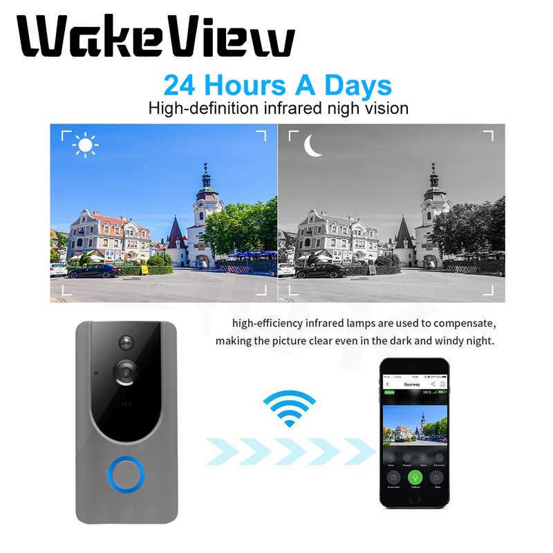 WakeView видео дверной звонок умный беспроводной WiFi охранный дверной звонок визуальная запись домашний монитор ночное видение домофон дверной телефон
