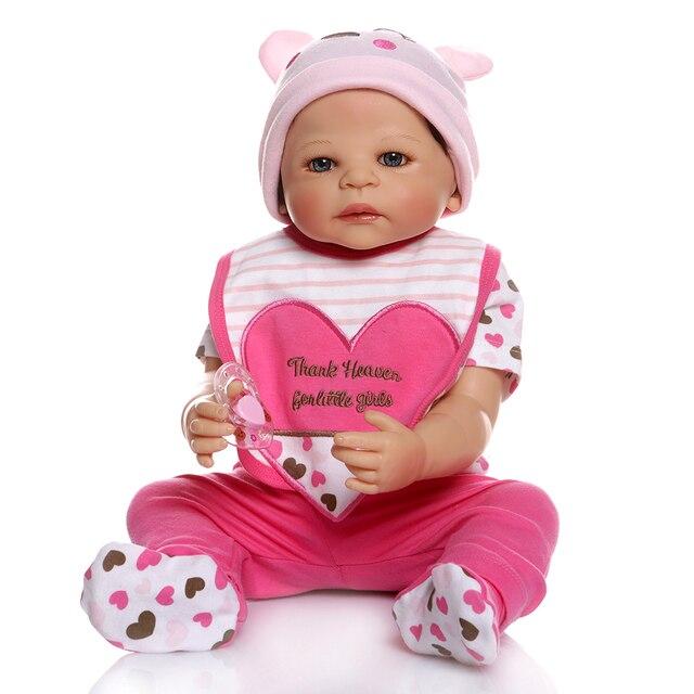 Full Body Silicone Vinyl Baby Reborn Dolls Newborn Sweet Girl Toy 2