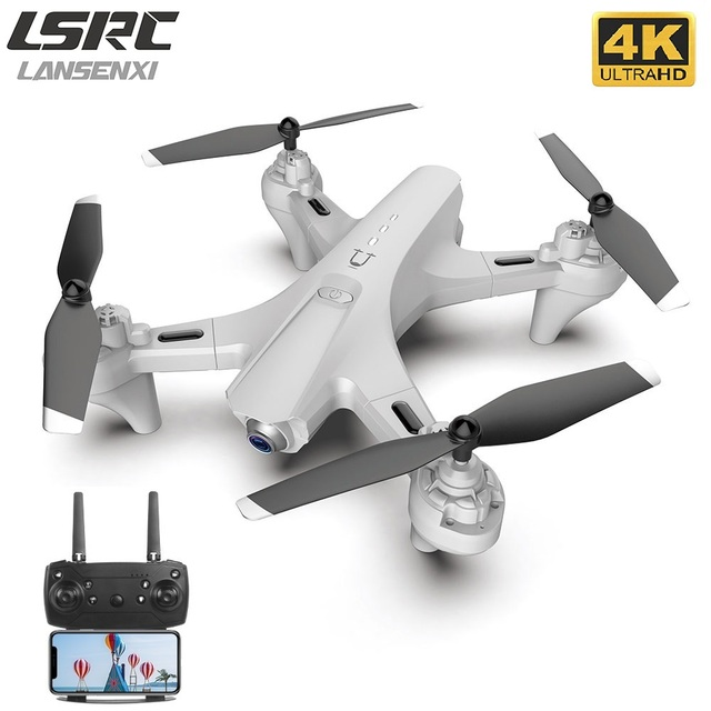 LANSENXI 2020 new RC drone 1080P 4K HD dual camera camera WiFi FPV height hold mode, quadrotor drone, boy toy gift