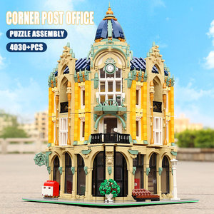 Image 5 - MOC 15002 15003 Street View Building Compatible With 10182 Cafe Conrner Led Light Model Building Blocks Kids Christmas Toys Gift