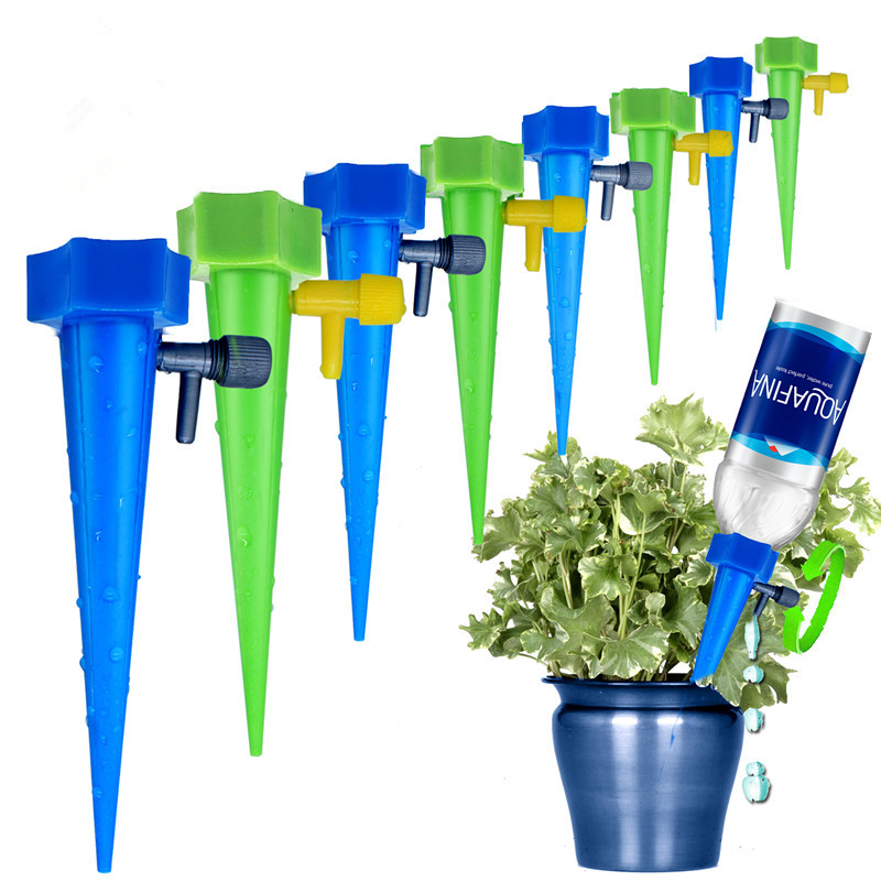 Auto Drip Irrigation System Automatic Watering Spike For Plants Flower Indoor Household Waterers Bottle Drip Irrigation